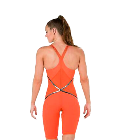 Стартовый костюм SPEEDO LZR RACER X Closedback Kneeskin orange/black ПОД ЗАКАЗ