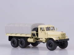 KRAZ-255B board with awning 1979 beige 1:43 Nash Avtoprom
