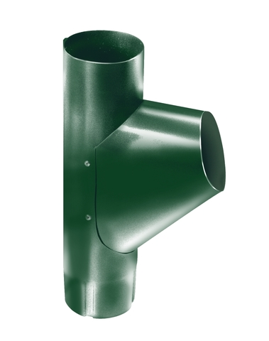 Тройник трубы ф90 (RAL 6005-зеленый мох)
