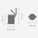 Мусорный бак Brabantia с педалью (5л) Union Jack, артикул 479762, производитель - Brabantia, фото 2