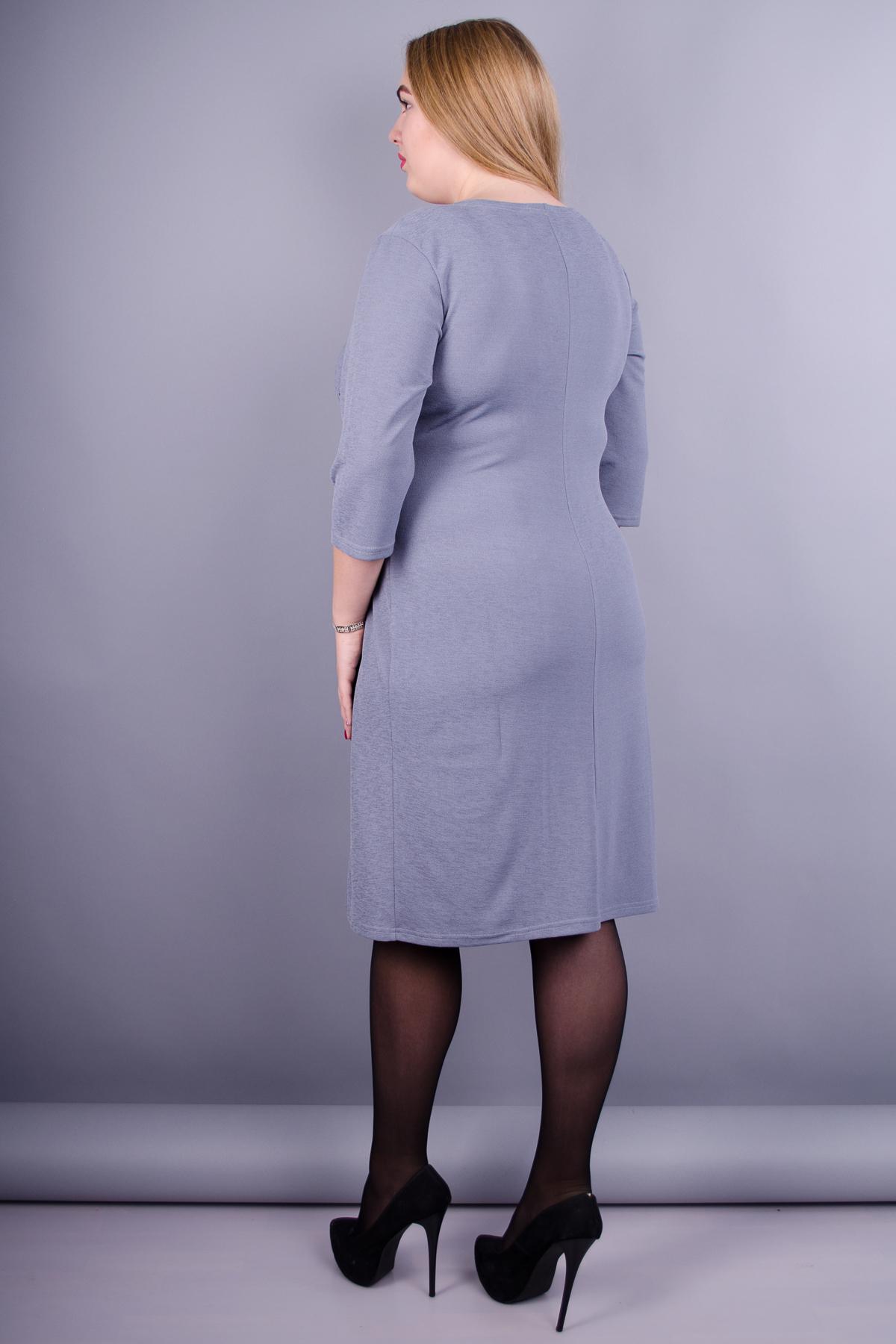 Тейлор. Гарна жіноча сукня плюс сайз. Сірий. - купить по выгодной ... b412aab054385