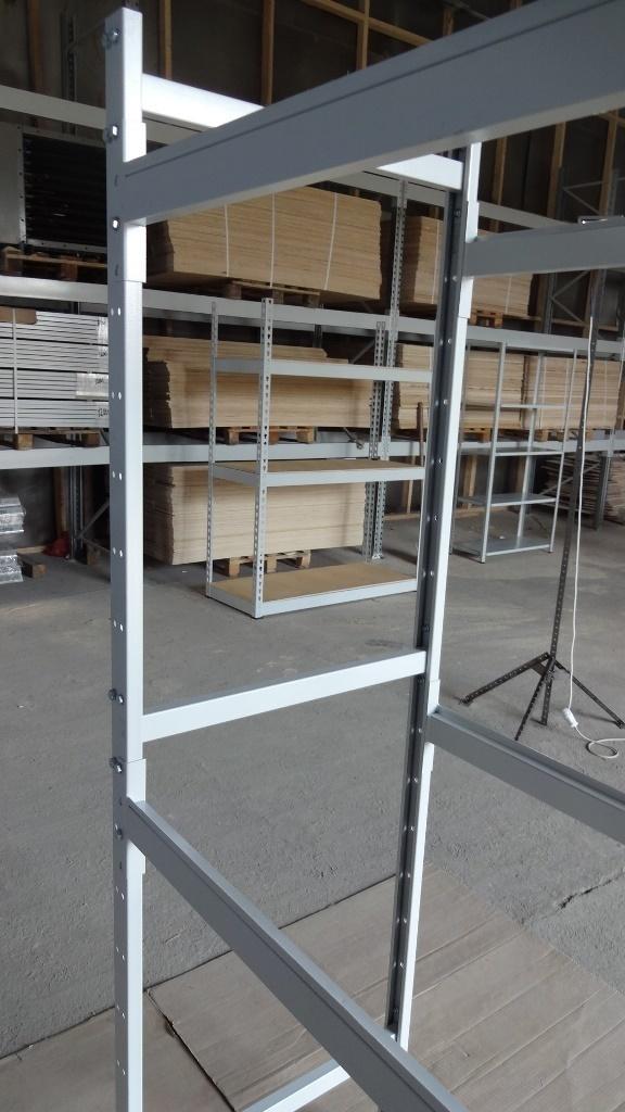 Металлический напольный стеллаж глубиной 700 мм