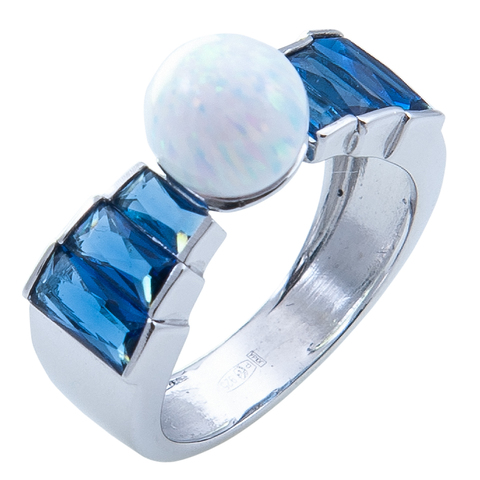 Кольцо из серебра с опалом Арт.1072ок сапф