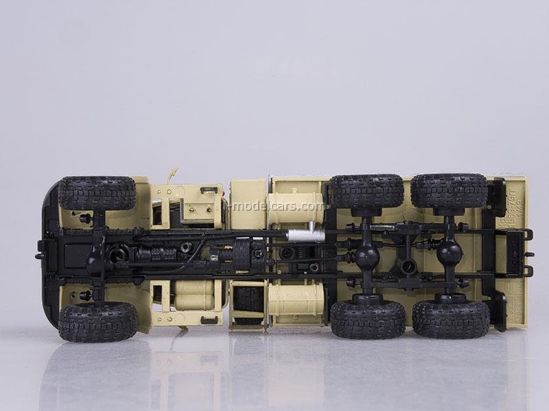 KRAZ-255B board with awning 1979 beige 1:43 Nash Avtoprom