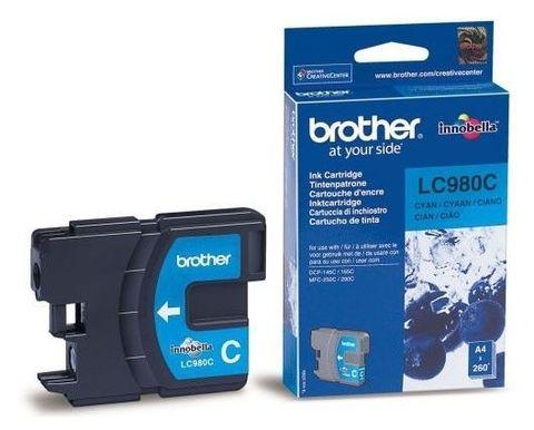 Brother LC-980C голубой) струйный картридж для DCP-145C, DCP-165C, MFC-250C, MFC-290C. Ресурс 260 страниц. (5% заполнение)
