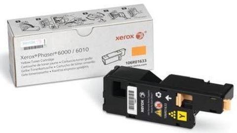 Картридж желтый XEROX Phaser 6000/6010, Xerox WorkCentre 6015 106R01633. Ресурс 1000 страниц.