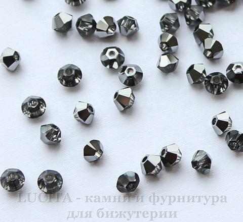 5328 Бусина - биконус Сваровски Crystal Silver Night 3 мм, 10 штук ()