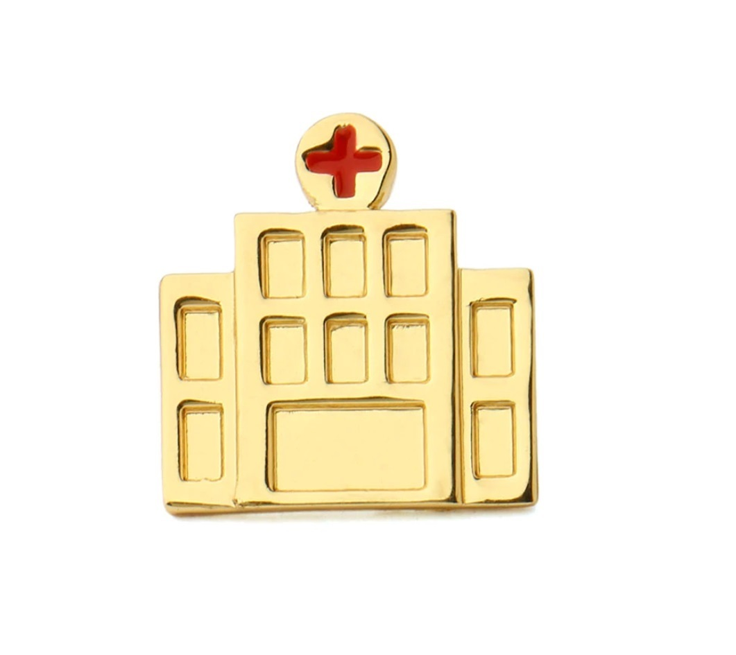 Брошь Больница (золотой цвет)
