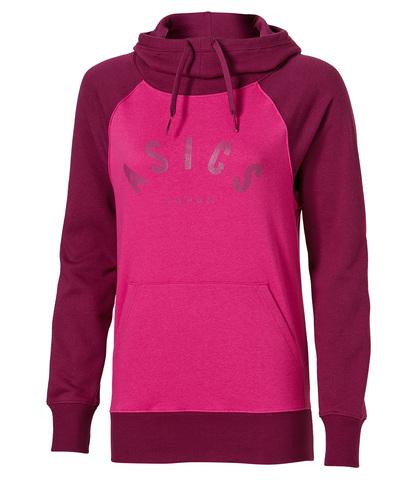 Женская толстовка с капюшоном Asics Graphic Hoodie (131454 6020) розовая фото