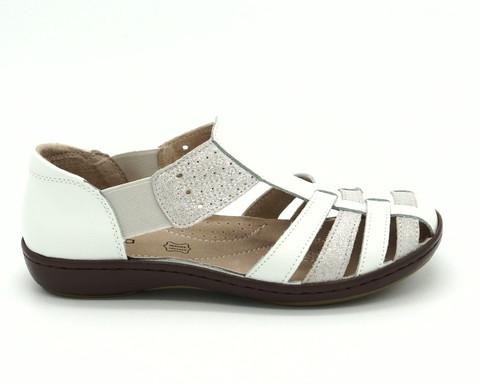 Белые кожаные сандалии в греческом стиле