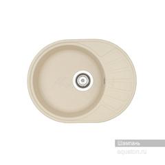 Мойка Акватон Чезана 1A711232CS290 для кухни из искусственного камня, шампань