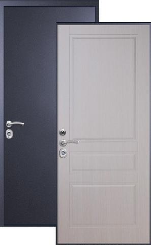 Дверь входная Falko Арктика Люкс, 1 замок, 2 мм  металл, (синий муар+ясень белый)