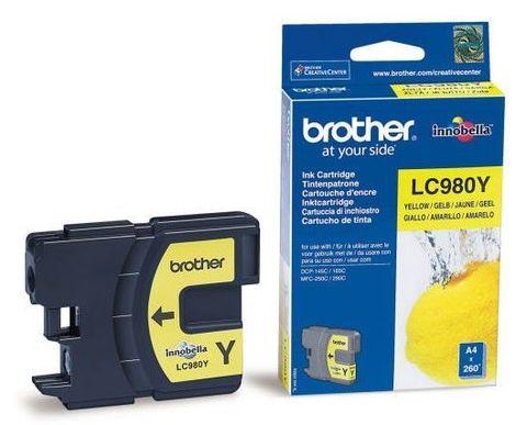 Brother LC-980Y желтый картридж для DCP-145C, DCP-165C, MFC-250C, MFC-290C. Ресурс 260 страниц. (5% заполнение)