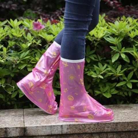 Дождевики для обуви розовые космос