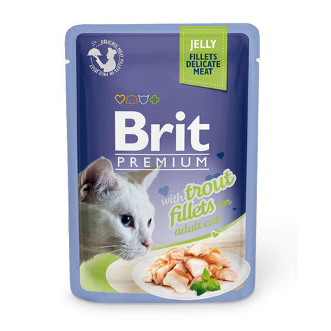 Паучи Brit Premium Jelly Trout fillets для кошек
