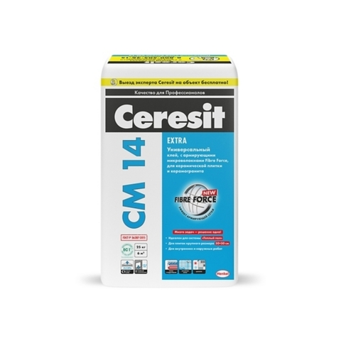 Ceresit CM 14 EXTRA/Церезит ЦМ 14 ЭКСТРА клей для плитки и керамогранита