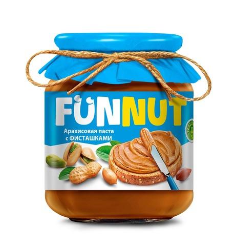 Арахисовая паста FUNNUT, с фисташками, 340 гр