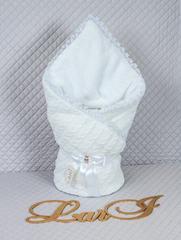 Зимний набор на выписку из роддома Змейка (белый)