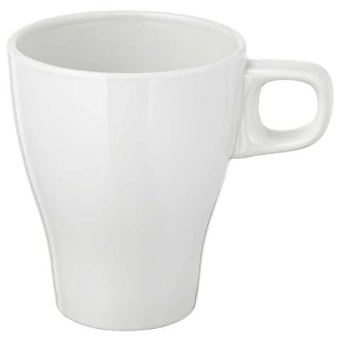 Кружка керамическая, белая, 8 см.