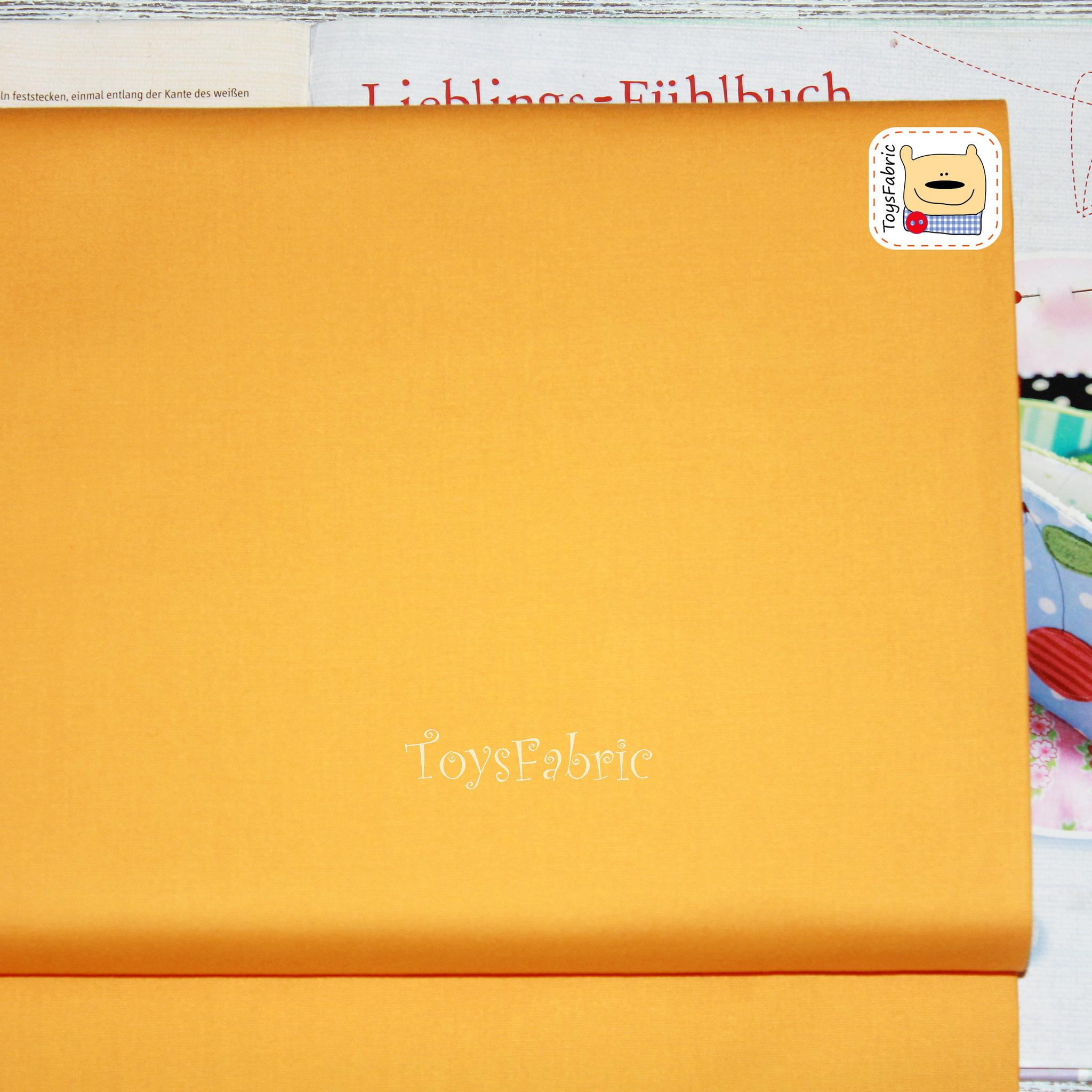 Ткань для пэчворка 20660 (однотонный янтарно-желтый) 45х55см