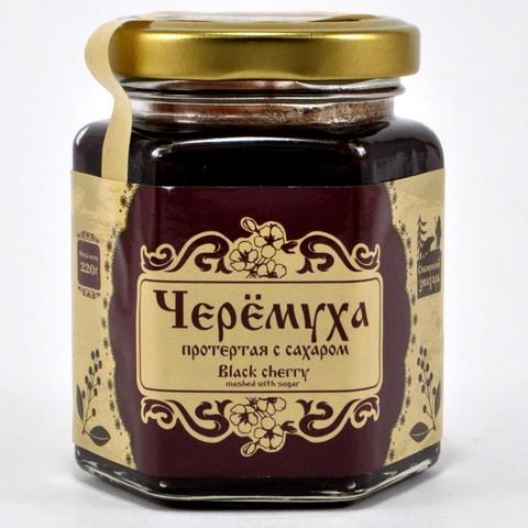 Черемуха протертая с сахаром Сибирский Знахарь, 220г