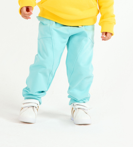 Джоггеры Anlikids с боковыми карманами  цвет мятный