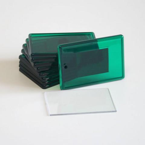 Акриловый магнит 52х77 мм зеленый