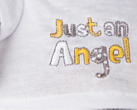 Кот Басик Baby в футболочке Just an Angel