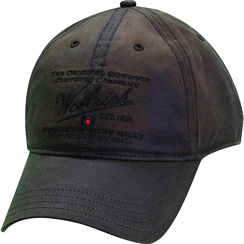 Кепка утепленная зимняя - Woolrich Oil Cap  (т. коричневая - brown)