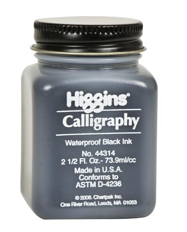 Пигментные чернила HIGGINS BLACK CALLIGRAPHY, 2.5 OZ, 73,9 мл
