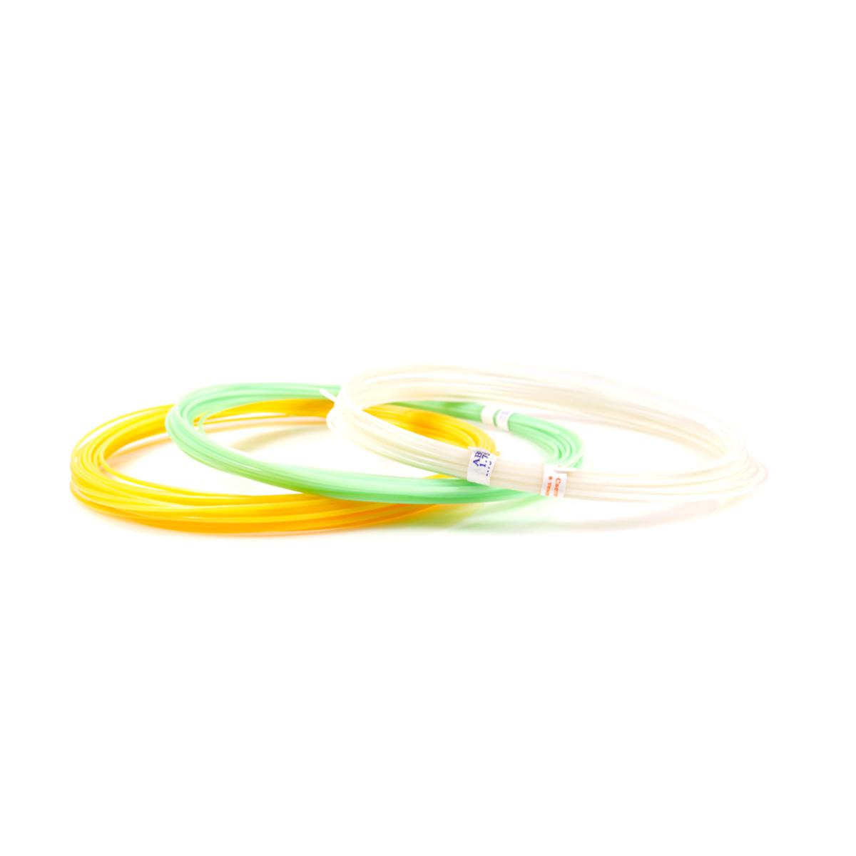 Набор пластика ABS F 3 цвета светящиеся в темноте