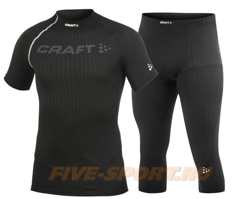 Комплект термобелья Craft Active Extreme черный капри+футболка