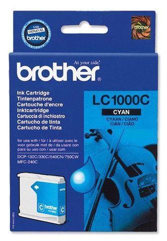 Brother LC1000C голубой картридж для МФУ DCP-130C/330С/MFC-240C/5460CN. Ресурс 400 стр. @ 5%