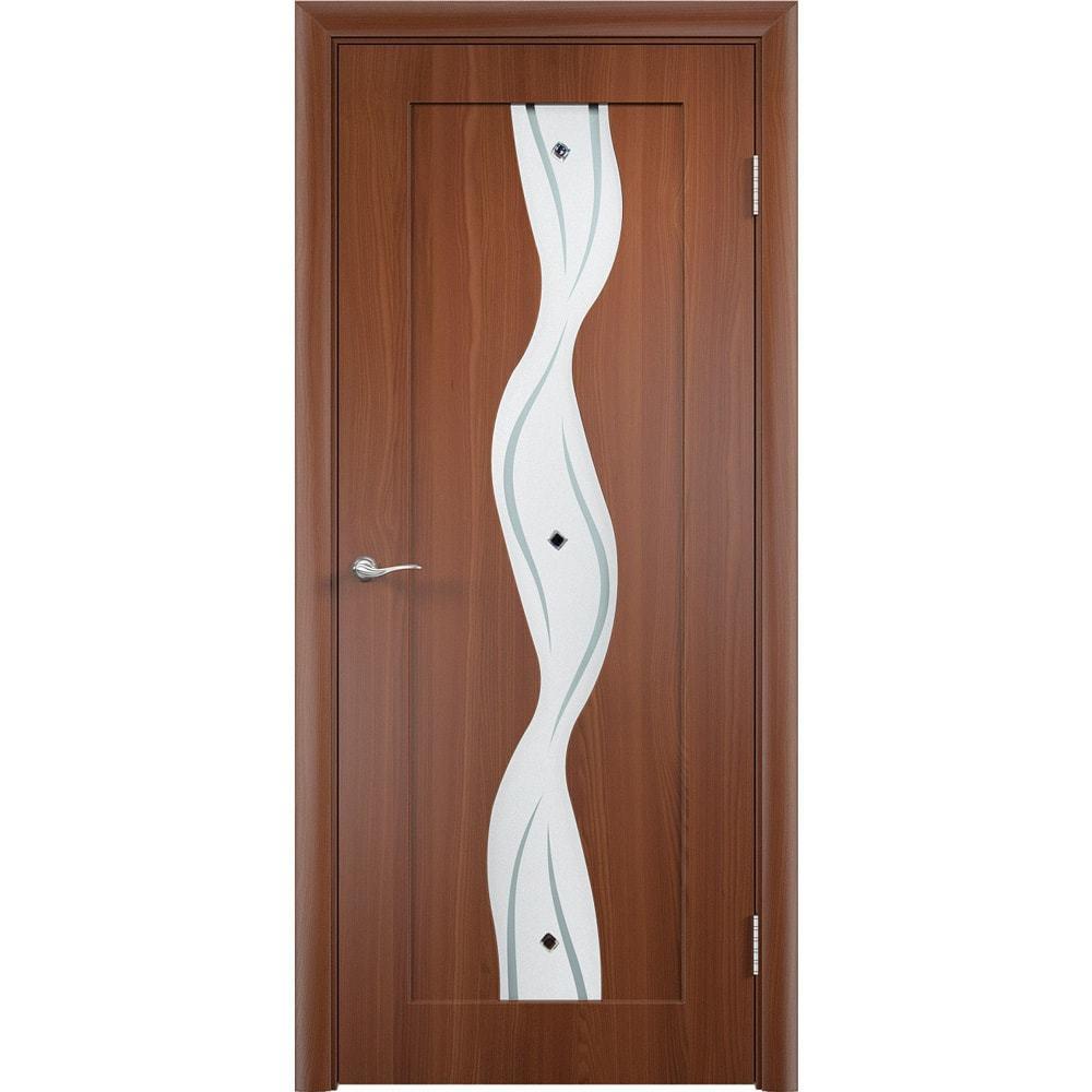 Межкомнатные двери Вираж итальянский орех со стеклом virag-po-italianskiy-oreh-dvertsov-min.jpg