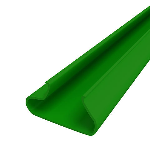 Вставки пластиковые  в экономпанель ВН 12/23 - зеленые, 1200мм