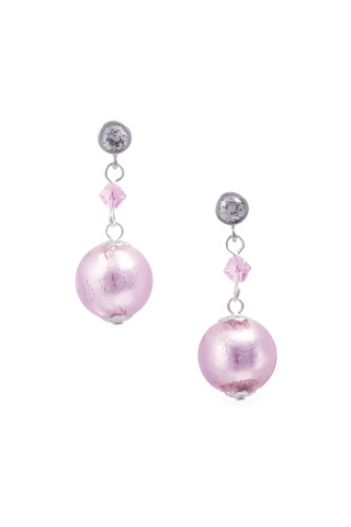 Серьги Perla Appeso Argento серебристо-розовые