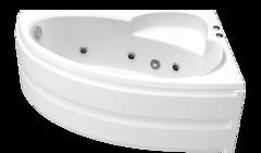 Ванна акриловая Bas Сагра 160х100х66, угловая асимметричная (правая), с гидромассажем