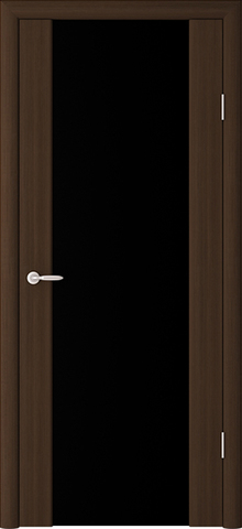 > Экошпон Фрегат ALBERO Сан-Ремо 1, стекло триплекс чёрный, цвет кипарис тёмный, остекленная