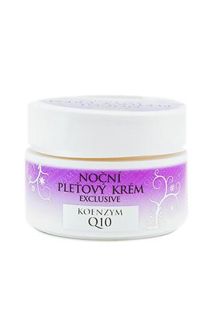 Ночной крем для лица EXCLUSIVE Q10 / Noční pleťový krém BIO EXCLUSIVE + Q10, 50 ml