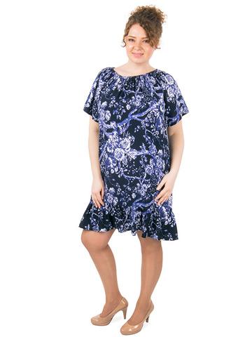 B1227-51-2 платье женское, синее
