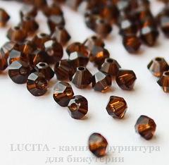 5328 Бусина - биконус Сваровски Mocca 3 мм, 10 штук