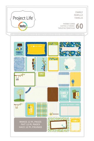 Маленький набор карточек Life Project- PL THEMED CARDS 60PK- Family
