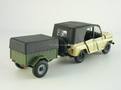 UAZ-469 beige with trailer khaki 1:43 Agat Mossar Tantal