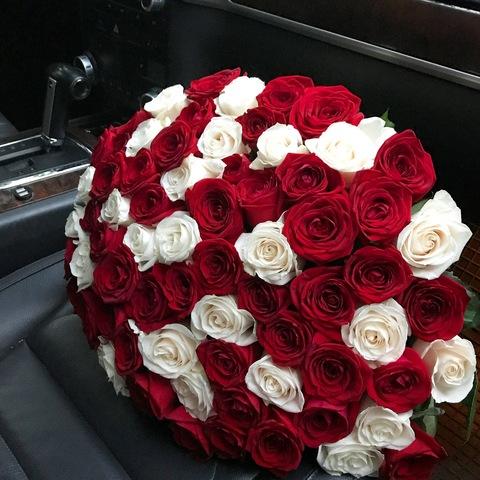 Букет из 101 розы (60 - 70 см)