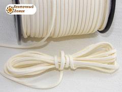 Шнур замшевый молочный 3*1,5 мм