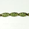 """Бусина """"Резная """"navette"""" (цвет - оливковый) 18х7 мм , 5 штук"""