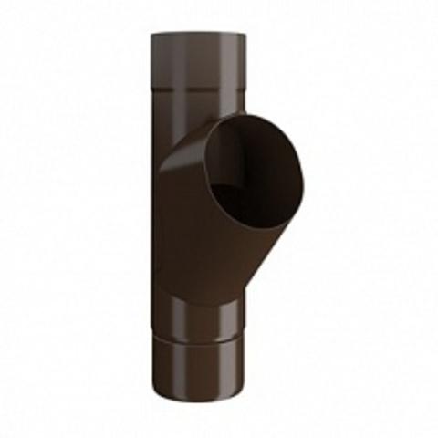 Тройник трубы ф90 (RAL 8017-коричневый шоколад)