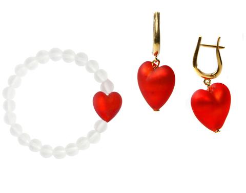 Комплект Satinato Cuori (Сердце красный)
