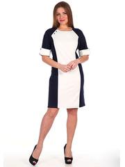 28A Платье женское, бело-синее