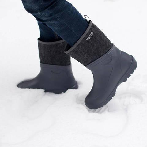Ботинки из ЭВА Nordman Short серые с высоким вкладышем